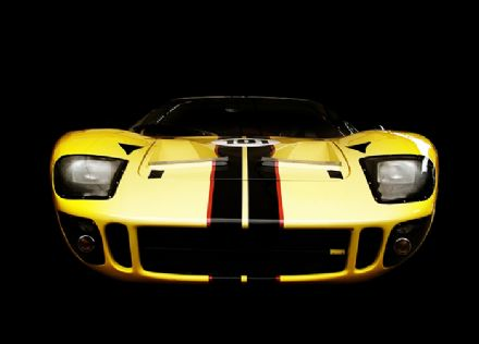 Yellow and black sports car wall mural - S